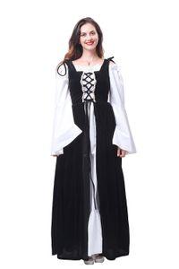 Costume irlandais médiéval Renaissance sur la robe Costume Boek Chemise ensemble le costume d'Oktoberfest
