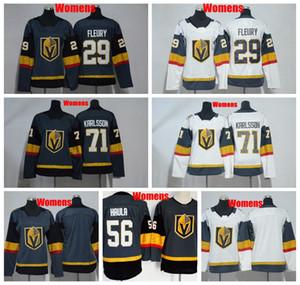 2019 para mujer Vegas caballeros de oro del hockey jerseys 29 Marc-Andre Fleury 71 William Karlsson 56 Erik Haula señoras de cosido los jerseys del hockey