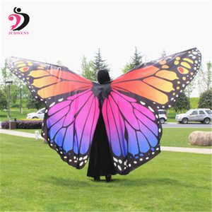 Belly Dance Props Butterfly Wings For Girls dança do ventre Props Butterfly Wings For Girls traje Egito colorido Não Sticks