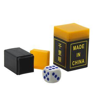 Milha milha olho Gamble Dice Talking dados cápsulas magia dice truque de mágica engraçado festa Show Factory atacado
