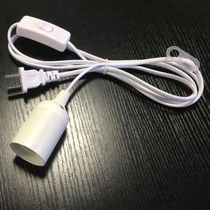 En gros 1.8 m Lampe Base E27 US Plug Suspendu Pendentif LED Luminaire Ampoule Socket Cord Adaptateur Avec On / Off Switch Bases de la Lampe