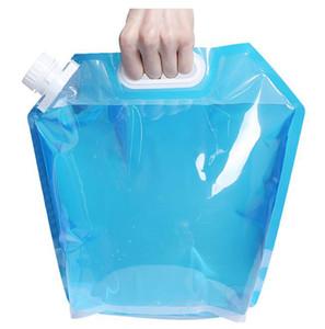 5L Collapsible Trinkwassertragetasche Portable Wasserflaschen Faltbare Wasser Taschen für Outdoor Camping Wandern Trinkflasche