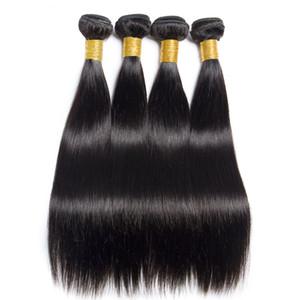 Горячая Продажа перуанского Straight Virgin Hair Weaves Один ПК / необработанного Natural Black Virgin Remy волос Связка Дешевых бразильские выдвижения волос