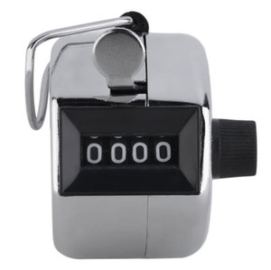 Digits Stainless Counters Professional 4 Digit Hand Held Tally Counter Manual Palm Clicker Number Counting Golf SN1123