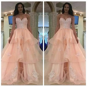 2019 Beautiful Sweetheart Sleeveless Quinceanera Dresses Lace Up Back Sexy Prom Party Gowns Beaded Crystal Vestidos De Quinceanera Wear