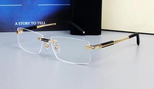 0349 Brand Design Rimless очки Wide Spectacle Мужчина площадь очки кадры Titanium очки рецепт объектив оптический рамка очки MB
