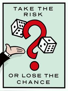 """Unframed / Alec Monopoly Take the Risk """", HD Canvas Print decorazioni per la casa, arte pittura murale, arte cultura d'ufficio"""