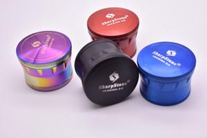 Neue Farbregenbogenschleifer 4 Stück 63mm Grinder SharpStone Version 2.0 Grinder Tabakschleifer vs SpaceCase Grinder Rainbow