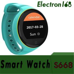 S668 Enfants Montre Intelligente IP54 Écran Rond Imperméable À L'eau GPS SOS Montre-Bracelet Viseur À Distance pour les Enfants Supporte la Carte SIM 10pcs