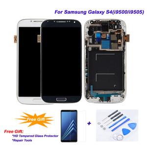 Samsung galaxy s4 / i9505 / i9500 lcd 100% çalışma, lcd dokunmatik ekran digitizer meclisi + çerçeve samsung galaxy s4 / i9500