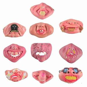 أقنعة مضحك قناع مخيف حزب هالوين يوم كذبة مهرج اللاتكس قناع تأثيري حلي نصف الوجه قناع