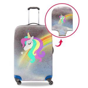 Custodia per una valigia Unicorno Cartone animato personalizzato Custodia protettiva Cover Donna Recentemente elastica spessa Custodie per 18-30 pollici Trolley Custodia