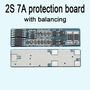 Freeshipping 2S célula 7A li-ion BMS PCM 18650 placa de proteção da bateria de lítio bms pcm com descarga da carga da bateria de equilíbrio;