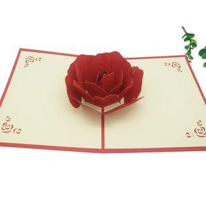 NEU Muttertag 3D Pop Up Rose Karten Einladungen Valentine Lover Love Romantischer Hochzeitstag Grußkarten Geschenk Postkarte