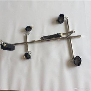 Shackles Shackles En acier inoxydable unisexe Shackles Steel Dispositifs en acier Bondage Poignets de la cheville Ensembles Collier Col Collier Menottes Adultes MeublesJoue Oecx