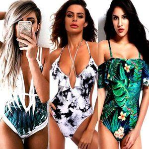 Women Sexy Floral Bikini Push-Up Padded Swimwear Beach One Piece Swimsuit Bathing Beachwear