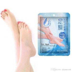 Maschera piedi di bambù latte peeling all'aceto tenera maschera piedi Peeling Spa Pelle morta Remover cuticole Cura dei talloni Maschera esfoliante