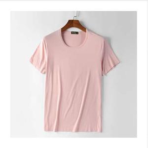 Vestiti estivi Heavy Streetwear Bambù di cotone solido Mens T-shirt Maglietta di marca in stile Depeche Mode Homme Slim camiseta