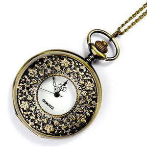 New style watch bronze classic pocket watch large six small vintage pocket watch exquisite sculpture hot sale