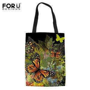 FORUDESIGNS Shopping Bags für Gemüse Mode Shopping Frucht-Einkaufstüte Shopper Schultertasche Handtote Home Storage