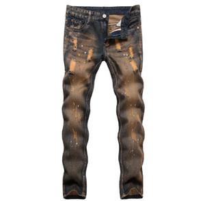 Pantalones de los hombres de los vaqueros de los pantalones vaqueros