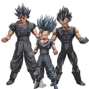 26cm de Dragon Ball Z Super Saiyan Goku Vegeta Gohan Msp Maestro Estrellas pieza Goku Chocolate Negro Pvc figura de acción de juguete