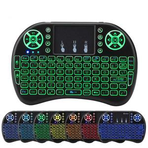 X96 TX3 미니 H96에 대한 10PCS RII I8 컬러 백라이트 무선 키보드 Blacklit 공기 마우스 원격 제어 터치 패드 휴대용