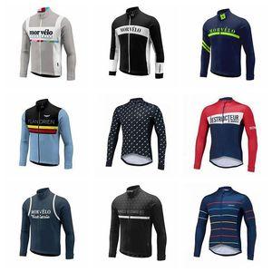 Morvelo 팀 사이클링 긴 소매 저지 야외 2018 사이클링 셔츠 자전거 레이싱 Mtb 자전거 의류 의류 E23