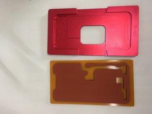 عالية الدقة ل iphoneX شاشة تعمل باللمس الزجاج محاذاة القالب مع OCA الترقق المواقع المطاط وسادة العفن كسر الزجاج المكسور