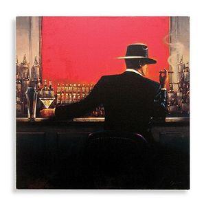 Cigar Bar Uomo incorniciato di Brent Lynch, Pure dipinto a mano Modern Decor Pop Art Pittura a olio su tela. Multi formati Spedizione gratuita mye / 003