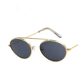 CALIENTE Mujeres Hombres Moda Personalidad Gafas de Sol Retro Oval Gafas de Sol Gafas Hip Hop Gafas Anti-UV A ++ Gafas SOL