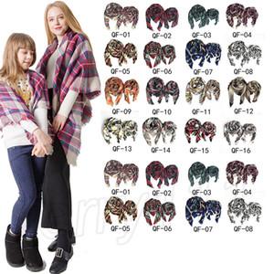 NEUE Winter Plaid Schal Frauen Eltern Kind Platz Schal Damen Wraps Schals Erwachsene Und Kinder Schals foulard femme JLE139