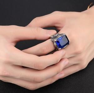 Европейская мода мужской кольцо с большим камнем высокое качество 361L из нержавеющей стали мужские кольца байкер рокер панк ювелирные изделия США размер 7-11