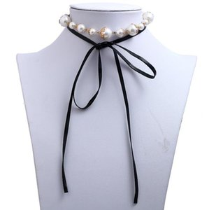 Simple pearl Leather Necklace