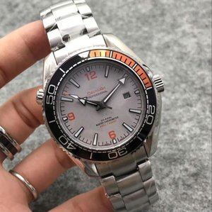 usta turuncu Saatler Otomatik hareketi 316L çelik Mineral safir kol saati 42mm * 15mm erkekler Mekanik izlemek saatler