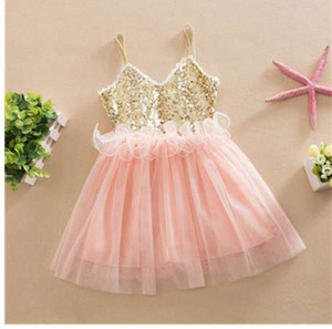 여름 크리스마스 귀여운 꽃 여자 드레스 스팽글 메쉬 소녀 의류 민소매 공주 드레스 소녀 의상 아이 소녀