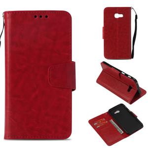 Retro Flip Case Pour Samsung Galaxy A3 2017 A5 2017 Couverture Portefeuille Cas Holster Imitation Peau En Cuir PU Téléphone Sacs Coque