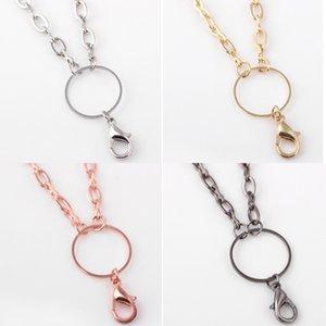 Freies Verschiffen Neueste DIY Schmuck Halskette Ketten Gold Silber Rose Gold Gun Schwarz Gliederkette für Glass Living Memory Schwimm Medaillon