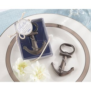 200 unids NUEVO favor de la boda Beach Anchor Bottle Can Opener Abridores Favores Ducha regalos del banquete de boda regalos