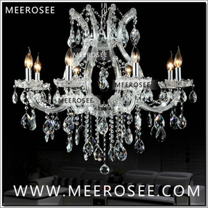 New Arrival Maria Theresa Clear White Crystal Chandelier Light Fixture Cristal Modern Pendant Light Hanging Lamp top quality 8 Lights