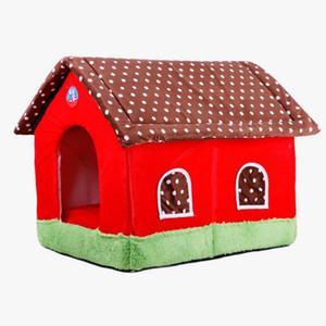 Weiches warmes pp.-Baumwollhaus-faltbares Katzen-Bett-Hündchen-Hundehütte-nettes Haustier-Katzen-Hundehaus-Qualitäts-Schlafsack