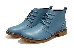 Weideng 4 Farbe Mode Frauen Winte Lace up Echtem Leder Klassische Schuh Hohe Stil Flache Marke Freizeitschuhe Stiefel 2017
