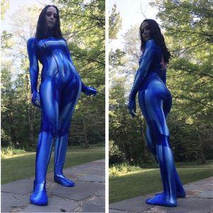 Women Samus Zero Aran Cosplay Costume 3D Printing Spandex Lycra Zentai Bodysuit Suit Jumpsuits