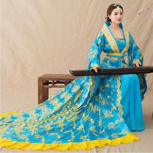 Chinois de la dynastie Tang ancienne fée hanfu carnaval vêtements fantaisie arrière film robe royale princesse de luxe vêtements de scène de spectacle TV