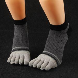 5 pares / 1 lote de moda para hombre, calcetines de algodón, cinco dedos, calcetines, calcetines, transpirable, casual, tobillo, divertido, calcetín al por mayor