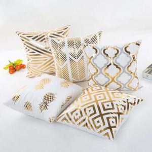 Yeni Bronzlaştırıcı Dekoratif yastık kılıfı yastık örtüsü AŞK geometri Ev kanepe yastık kılıfı toptan ücretsiz kargo