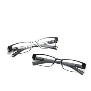 Yeni Metal Presbiyopik Gözlük Rahat Kare Metal Çerçeve Yaşlı Adam Okuma Gözlükleri