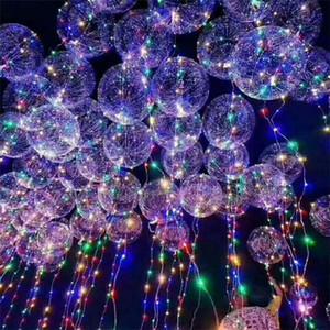 Dreamy onda palla bobo BOBO Balloon con l'aerostato ha condotto la luce colorata per il Natale Halloween festa di nozze a casa i bambini Tatuaggi IB749