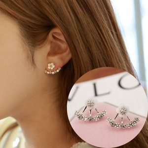 Top Quality Daisy Flower Earrings For Women 925 Pure Silver Jewelry Fashion Simple Cherry Blossoms Flower Stud Earrings Free DHL