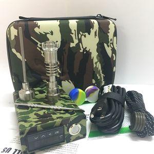 Hot Mini Portable E nail Enail Kit Electric Dab Nail Pen Rig Wax Box With 16MM 20mm Quartz Titanium Domeless Coil Heater ENail